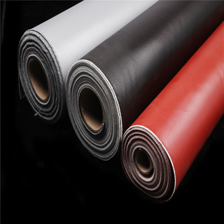 Silicone rubber coated glass fiber cloth, 0.4mm thick twill weave
